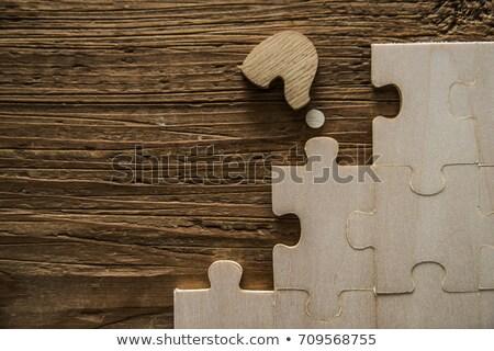 Információ kirakós játék hiányzó darabok fényes zöld Stock fotó © tashatuvango
