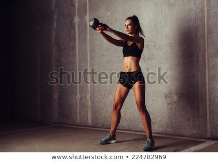 соответствовать · женщину · гири · спортзал · спорт - Сток-фото © wavebreak_media