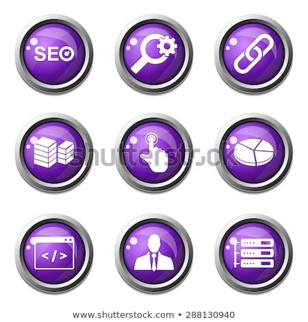 SEO Internet Sign Violet Vector Button Icon Design Set 11 Stock photo © rizwanali3d