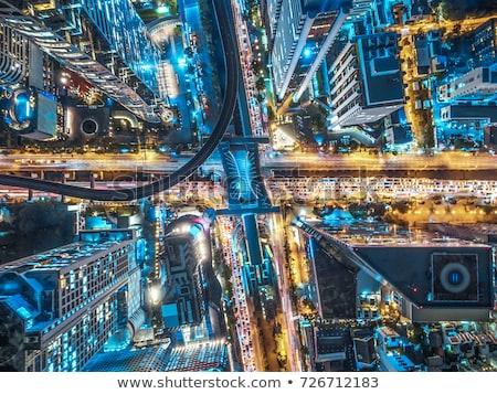 Aéreo superior vista tren estación de ferrocarril industria Foto stock © stevanovicigor