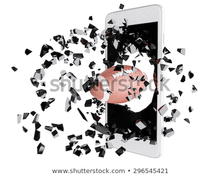 football burst out of the smartphone Stock photo © teerawit