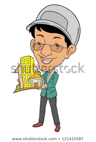 model · architekta · budynku · prezentacji · człowiek - zdjęcia stock © tujuh17belas