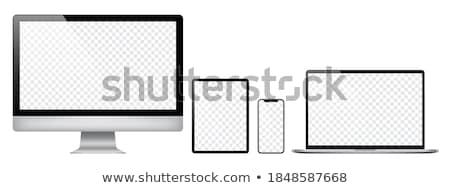 ingesteld · tijdgenoot · gadgets · geïsoleerd · witte · business - stockfoto © leonardo