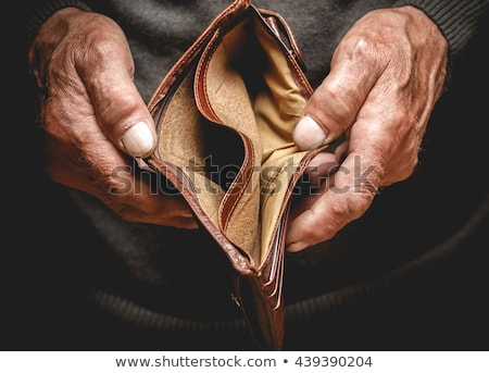 Stockfoto: Male Hand With An Empty Wallet