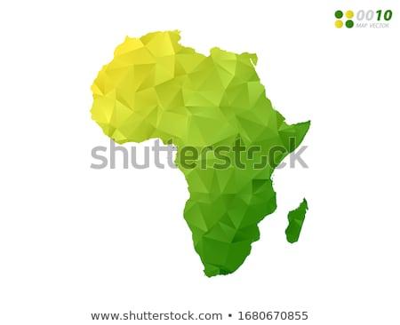 africa map on green background stock photo © netkov1