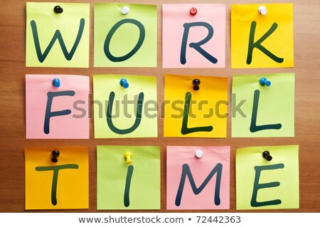 Stock photo: Work full time ad