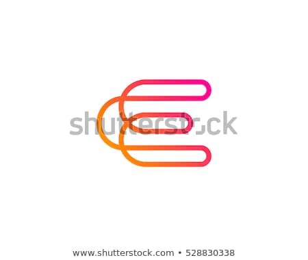 abstract vector logo letter e stock photo © netkov1