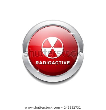 радиоактивный знак красный вектора икона дизайна Сток-фото © rizwanali3d