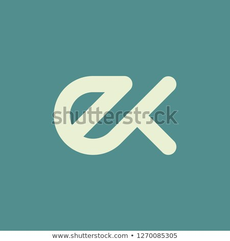 Abstract vector logo letter E on a red background Stock photo © butenkow