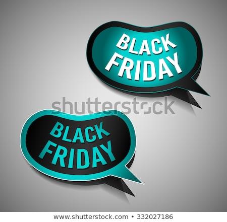 desconto · black · friday · venda · cartaz · adesivo - foto stock © davidarts