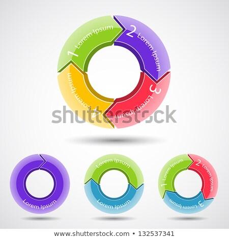 Modèle affaires solutions présentation infographie Photo stock © DavidArts
