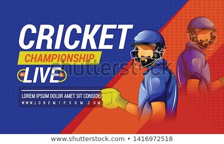Vector of cricket bowler in action. Stock photo © Morphart