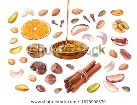 Kaneel zonnebloem zaden kan gebruikt voedsel Stockfoto © Valeriy