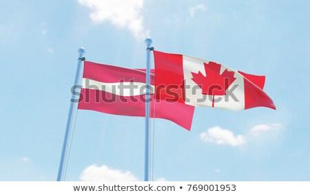 Canadá Látvia bandeiras quebra-cabeça isolado branco Foto stock © Istanbul2009