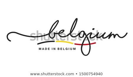 ベルギー 国 フラグ 地図 文字 ストックフォト © tony4urban