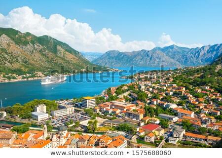 Panoramic top view of Kotor bay (Boka Kotorska) and Kotor city,  Stock photo © vlad_star