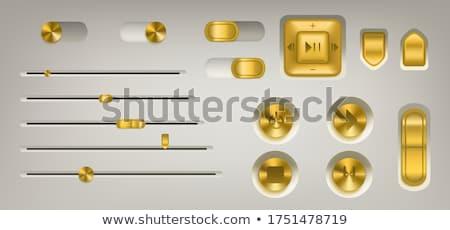 pause golden vector icon design stock photo © rizwanali3d