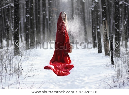 Beautiful red hooded young adult woman portrait Stock photo © stevanovicigor