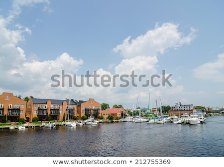 Wasser Washington North Carolina wenig Gebäude Fluss Stock foto © alex_grichenko