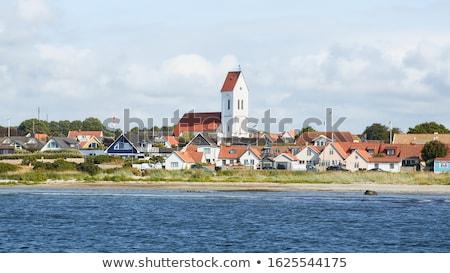 Ev İsveç İskandinavya Avrupa Stok fotoğraf © mikdam