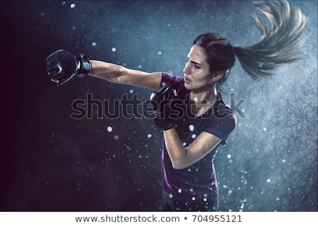Fit woman practicing karate Stock photo © wavebreak_media