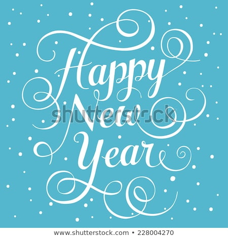 Happy New Year. Lettering 2016 card, greeting, decoration,  Stock photo © rommeo79
