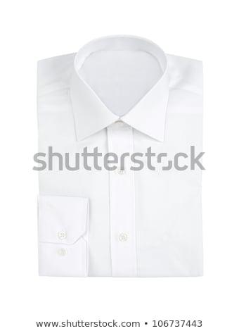 Nuovo bianco shirt sfondo uomini tessuto Foto d'archivio © shutswis