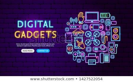 Digitális eszközök szalag terv fehér technológia Stock fotó © kjolak