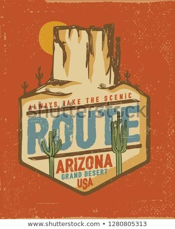 út Arizona USA tájkép Stock fotó © phbcz