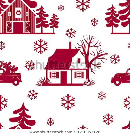 Stock fotó: Karácsonyi · minta · hópehely · eps · vektor · akta · hó