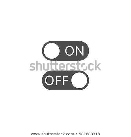 Af schakelaar icon illustratie ontwerp business Stockfoto © kiddaikiddee