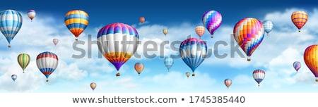 Balão de ar quente eps 10 voador corações romântico Foto stock © beholdereye