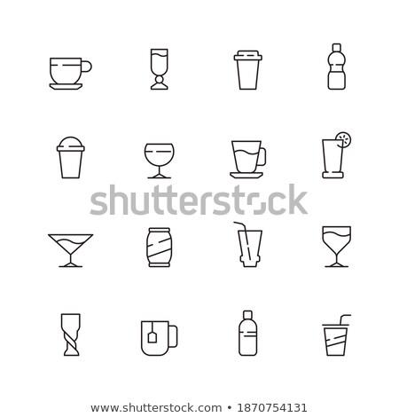 odizolowany · alkoholu · butelek · okulary · plaży - zdjęcia stock © rastudio