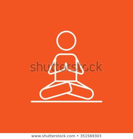 Uomo yoga line icona Foto d'archivio © RAStudio