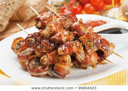 pork and bacon skewers stock photo © digifoodstock
