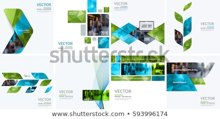 Mínimo tecnologia geométrico verde azul vetor Foto stock © saicle