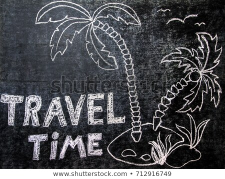 Message on a chalkboard - Time to travel Stock photo © Zerbor