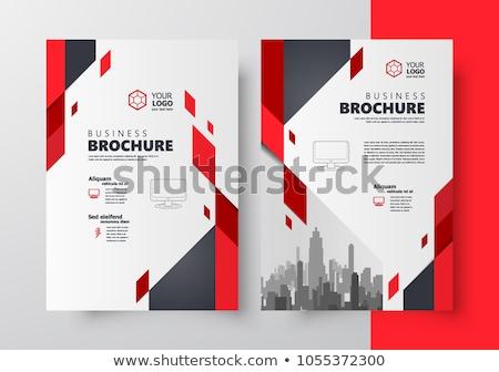 brosúra · szórólap · sablon · méret · terv · borító - stock fotó © ganpanjanee