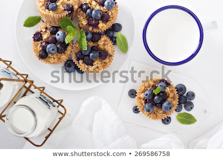 Blueberry oatmeal muffins Stock photo © fotogal