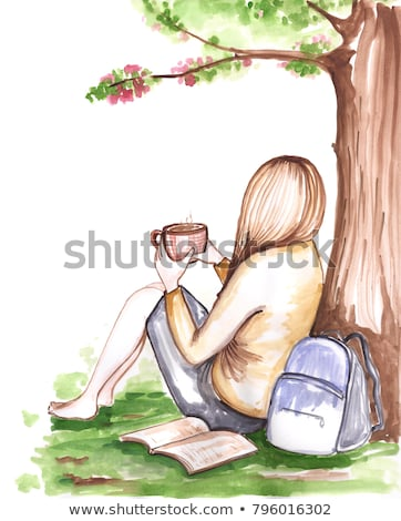 sitting on the tree free feet stock photo © zurijeta