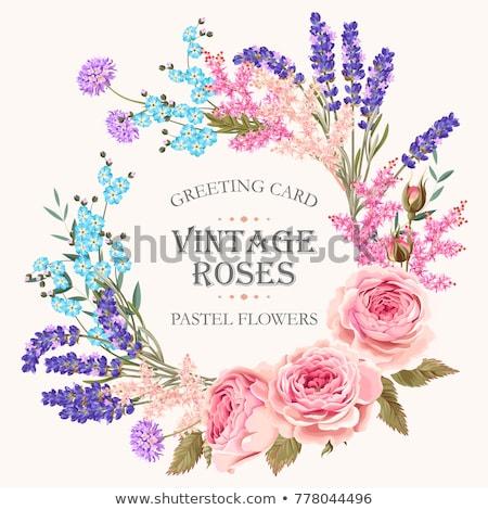 floral · vintage · modèle · sombre · vecteur · fleur - photo stock © olgadrozd