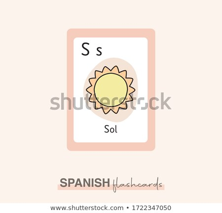 Flashcard letter S is for spring Stock photo © bluering