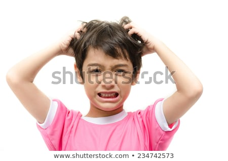 child with head lice Stock photo © adrenalina