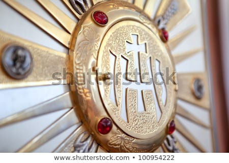 katolikus · modern · kereszt · üveg · művészet · Jézus - stock fotó © bubutu