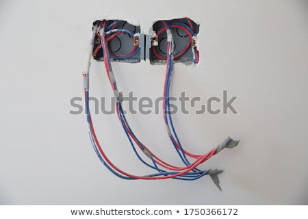 Cables on walls in new house Stock photo © zurijeta