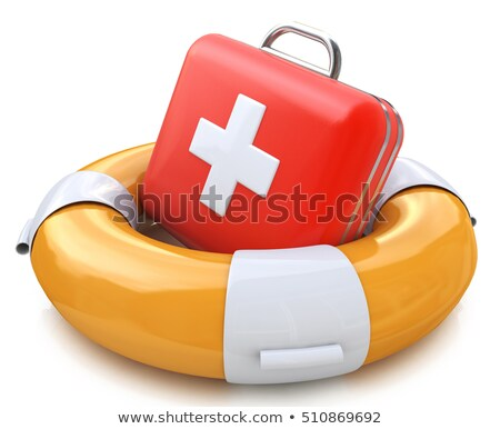 First aid kit on a lifebuoy Stock photo © AlexMas