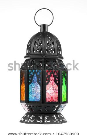 Ramadán lámpás dekoráció fények égbolt terv Stock fotó © zurijeta