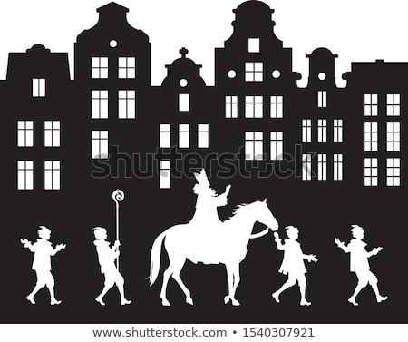 horses parade in a city stock photo © joyr