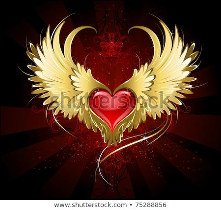 темно · ангела · сердце · красный · черный - Сток-фото © blackmoon979