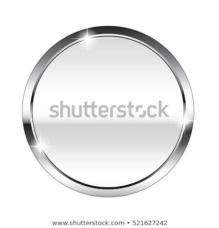Dizayn gri beyaz circles gümüş Stok fotoğraf © JeksonGraphics